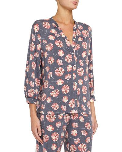 Veranda Floral-Print Pajama Top