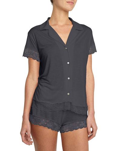 Noor Lace-Trim Short Pajama Set