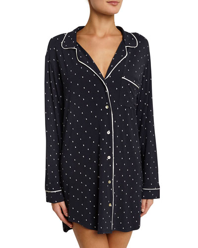 Chic Long-Sleeve Sleepshirt