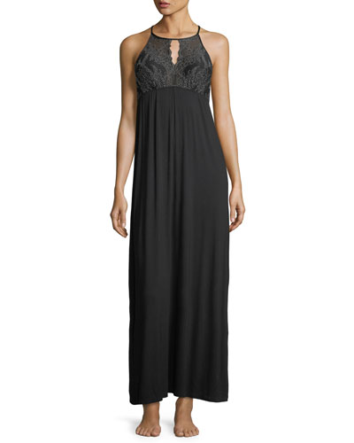 Winter Escape Halter-Neck Nightgown