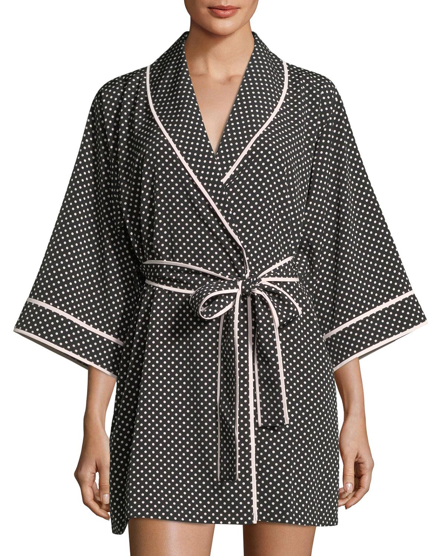 polka-dot short robe