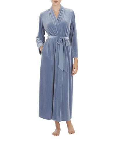 Paisley Long Velvet Robe