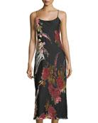 Velvet Burnout Sleeveless Nightgown