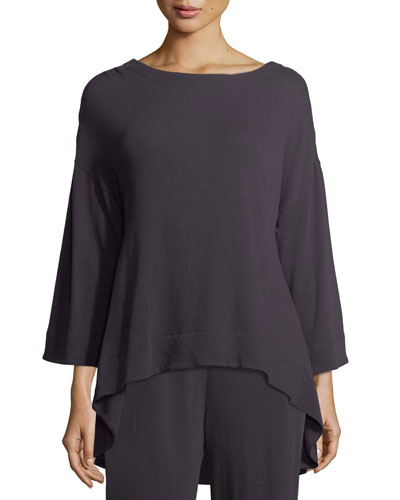 Letitia Long-Sleeve Cotton Lounge Top