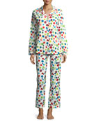 Christmas Ornaments Long-Sleeve Pajama Set