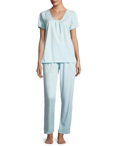 Mid-Tones Short-Sleeve Pajama Set
