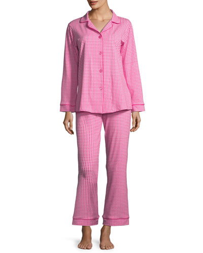 Pearls Long-Sleeve Classic Pajama Set