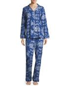 Mystery Garden Long-Sleeve Classic Pajama Set
