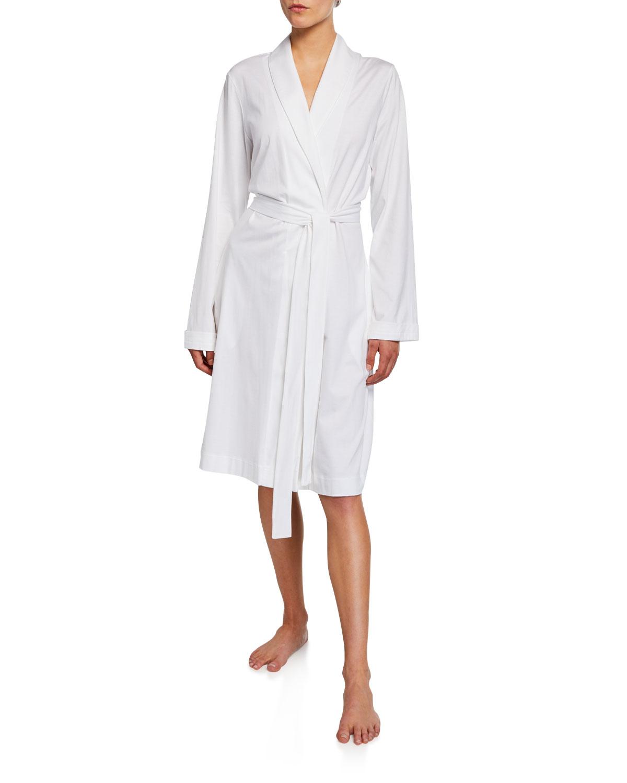Cotton Jersey Short Robe