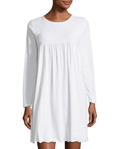 Pamela Long-Sleeve Short Nightgown