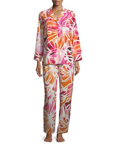 Zelda Floral-Print Long Pajama Set