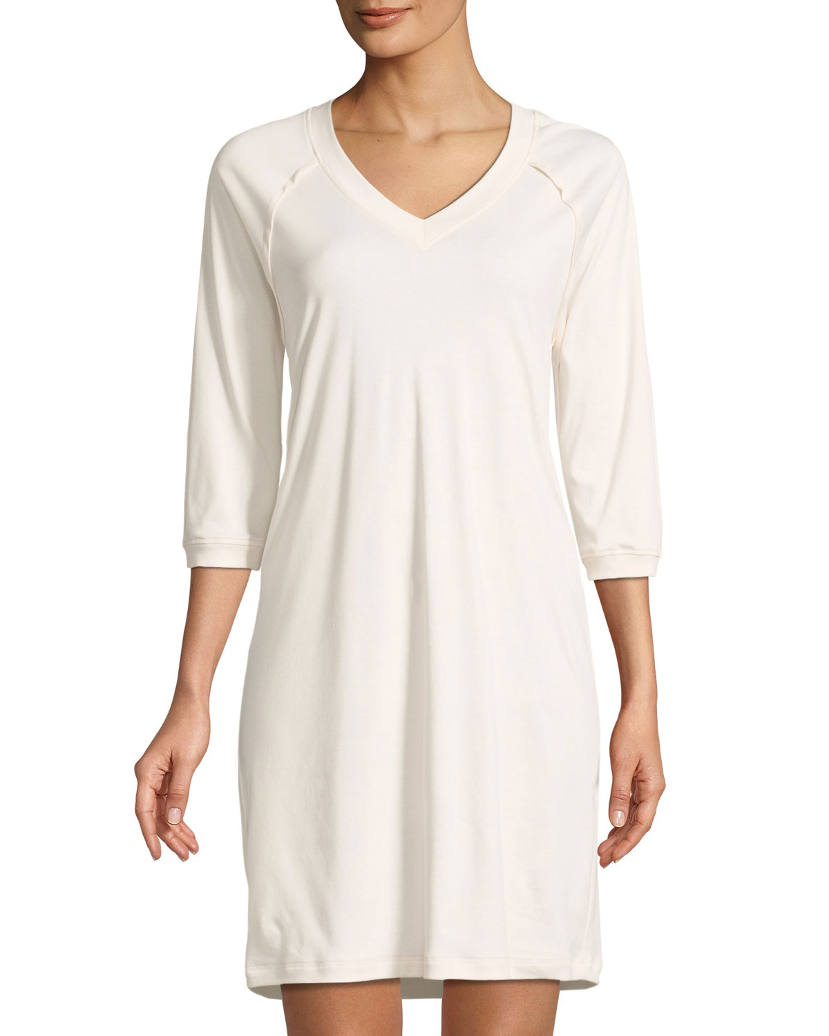 Hanro Gowns PURE ESSENCE 3/4-SLEEVE GOWN