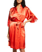 Lise Charmel Splendeur Lace-Trim Silk-Blend Robe and Matching