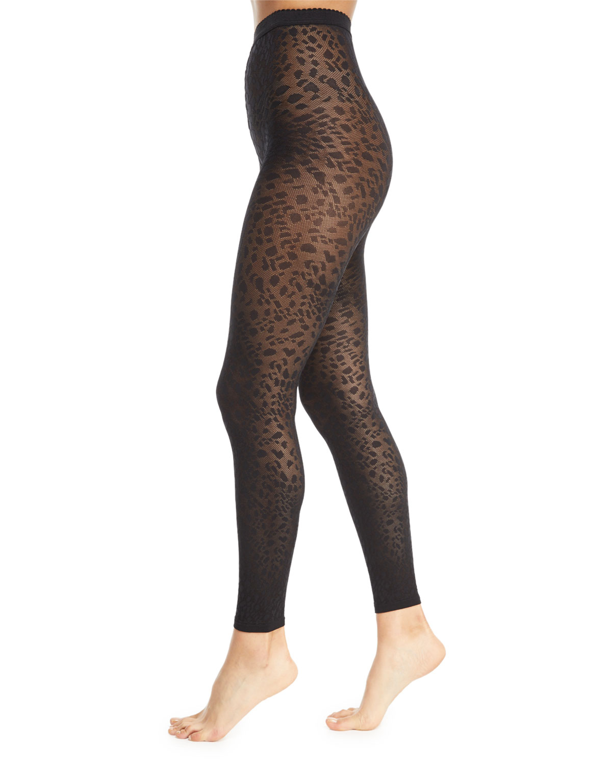 4ef4b6d2f Avril Leopard-Print Footless Tights