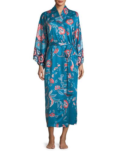 Xanado Paisley-Print Long Robe