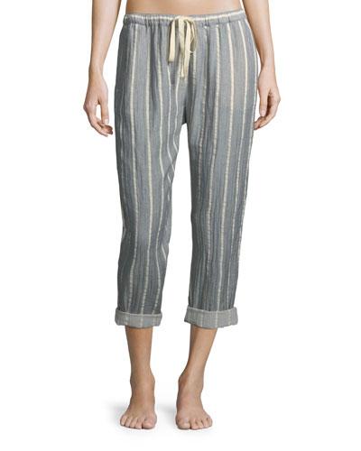 Jordyn Striped Crop Lounge Pants