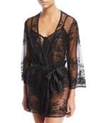 Seymour Sheer Lace Robe