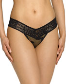Camouflage-Print Low-Rise Thong