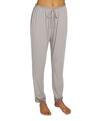Noor Slim-Leg Lounge Pants, Medium Gray