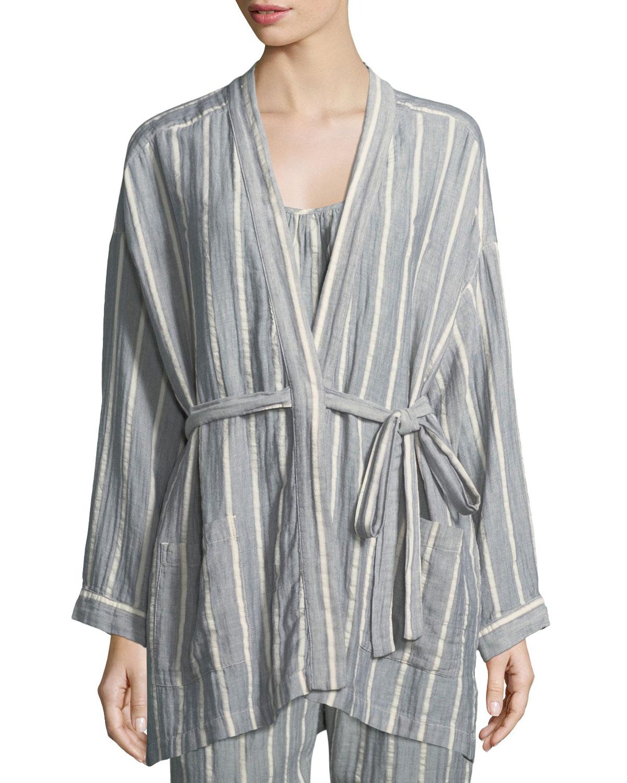Ryder Striped Cotton Robe