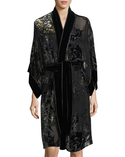 Luna Velvet-Burnout Robe