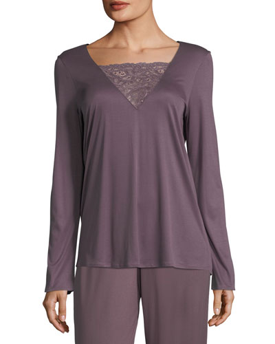 Camille Long-Sleeve Lounge Shirt