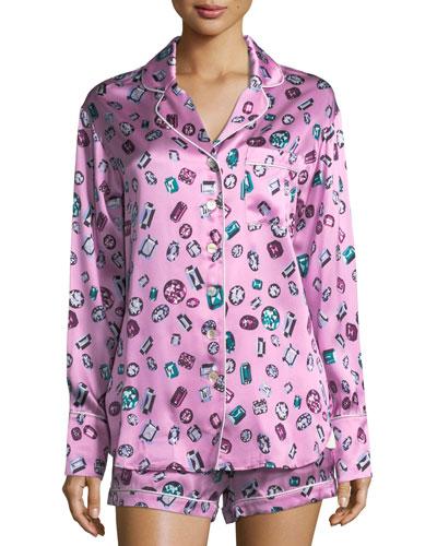 Alba Patricia Shortie Silk Pajama Set