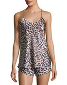 Bella Raelyn Leopard-Print Short Pajama Set
