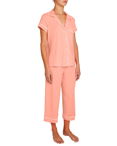 Gisele Cropped Two-Piece Jersey Pajama Set