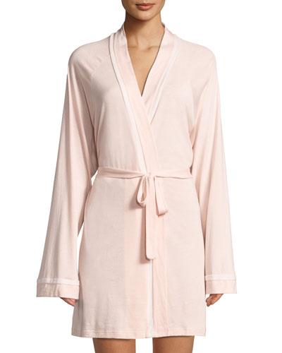 Bella Contrast-Trim Robe