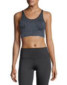 Reed Tonal Printed Performance Sports Bra