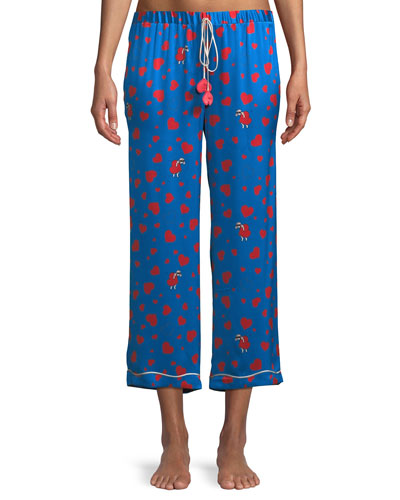Lanie Thief of Hearts-Print Petal Pants