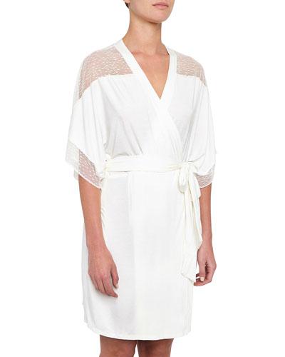 Greta Lace-Inset Robe
