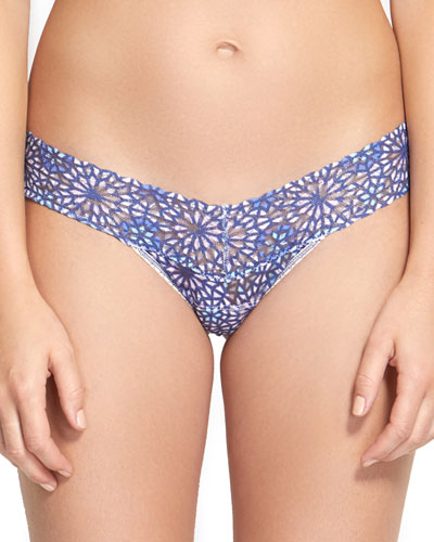 Maria Low-Rise Geometric Lace Thong