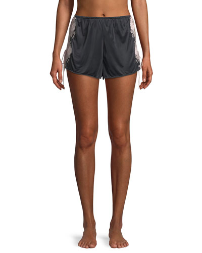 Harlow Lace-Trim Slinky Jersey Lounge Shorts