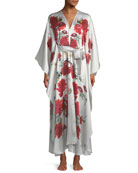 Rose V-Neck Wrap Robe
