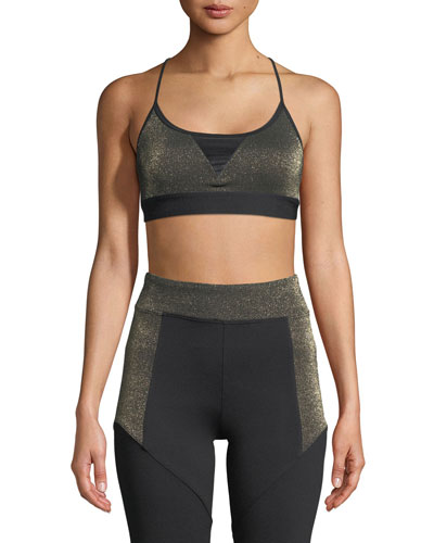 Trifecta Versatility Metallic Sports Bra