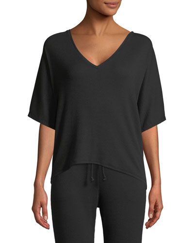 Carlotta Half-Sleeve Lounge Top