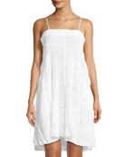 Naomi Gauze Cotton-Stretch Nightgown