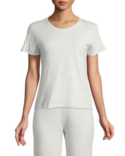 Double Layer Short-Sleeve Pajama Top