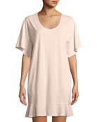 Ruffle Half-Sleeve Nightgown