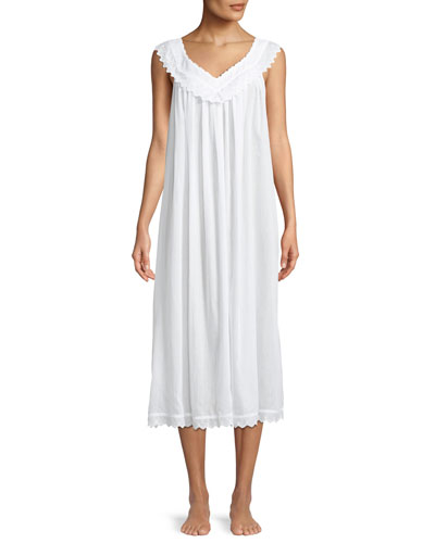Antigone Appliqué-Trim Nightgown