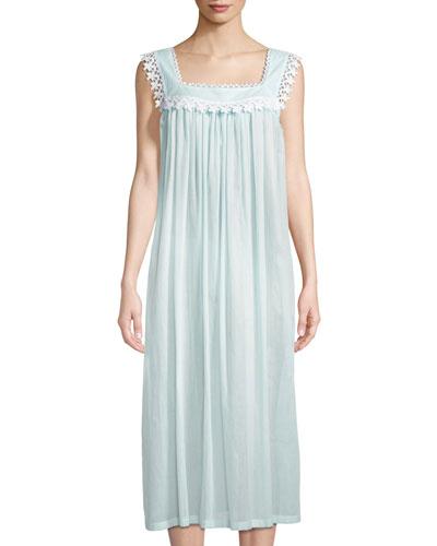 Evening Star Sleeveless Long Nightgown