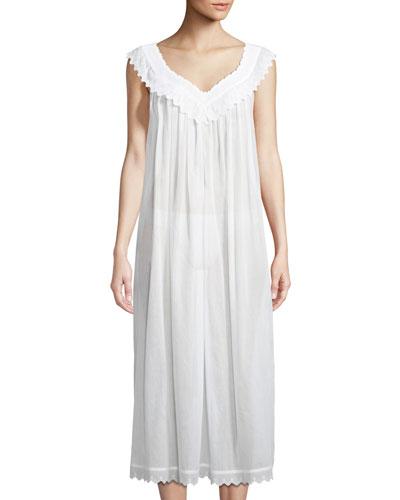 Antigone Sleeveless Long Nightgown