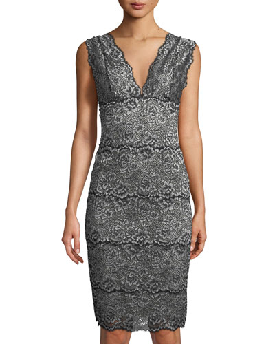 Pret-a-Porter Long Lace-Trim Nightgown