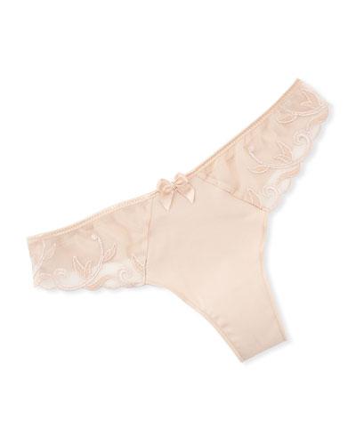 Andora Lace-Trim Cotton Thong