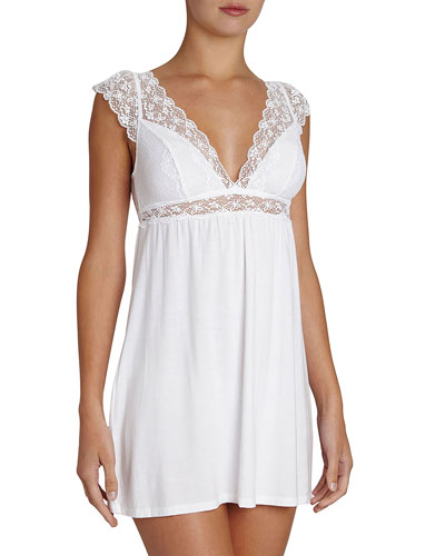 Kiss the Bride Cap-Sleeve Chemise