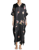 Midnight Garden Silk Caftan