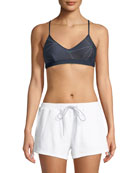 Andie Stars V-Neck Sports Bra