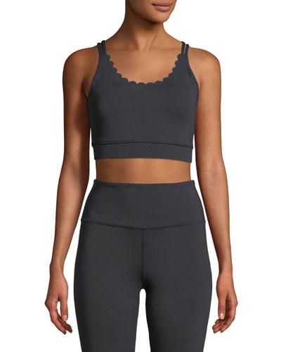 scallop sports bra